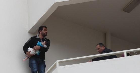 17 aylık bebeğiyle intihar girişiminde bulundu