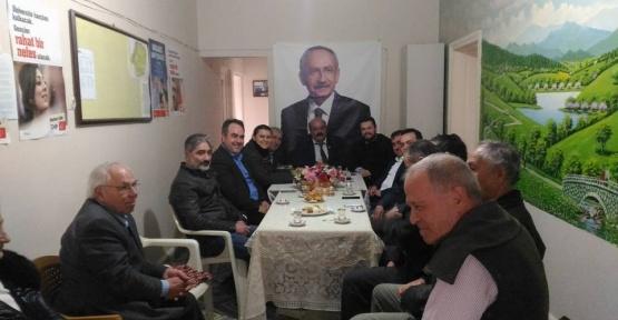 Ak Parti'den CHP ilçe başkanlığına ziyaret