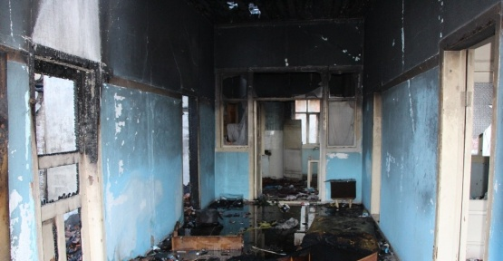 Amasya'daki yangının izleri gün aydınlanınca ortaya çıktı
