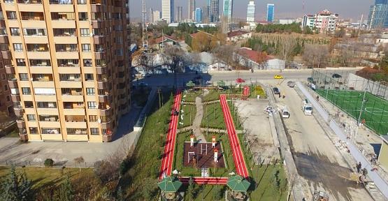 Ankara Çukurambar'da görme engellilere özel park