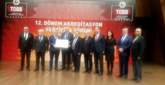 Aydın Ticaret Borsası '5 Yıldız' seviyesinde akreditasyon belgesini yeniledi