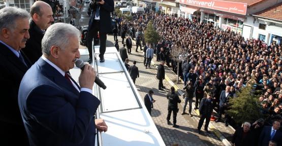 Başbakan Yıldırım, Nevşehir'de halka konuştu