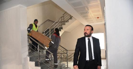 Başkan Doğan, yurt inşaatını ziyaret etti