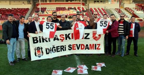 Beşiktaşlı taraftarlardan Samsunspor'a forma desteği