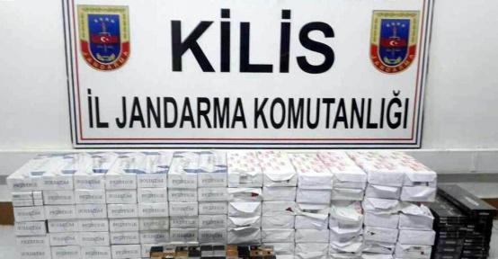 Bin 100 paket kaçak sigara ile 30 adet cinsel uyarıcı sprey yakalandı