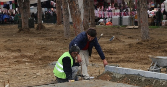 Burhaniye'de Şehit Turhan Bayraktar Parkı yenileniyor