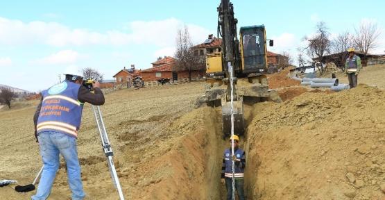 Büyükşehir'den Çivril'de alt yapı çalışması