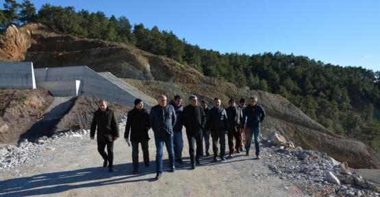 Coşkun, Aksu Karaöz Çepeli Barajı incelendi