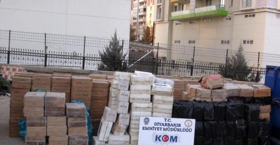 Diyarbakır'da 327 bin 400 paket kaçak sigara ele geçirildi