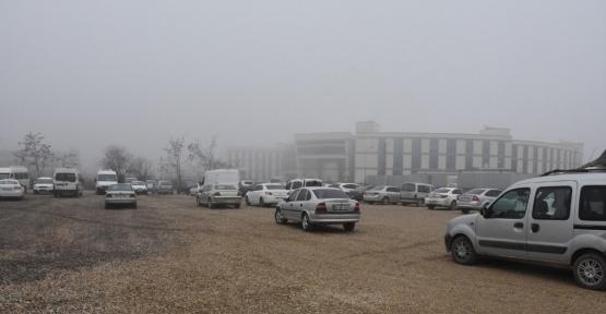 Düzce Belediyesinden hastane için otopark yapıldı