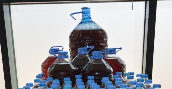 Elazığ'da su şişelerinde kaçak şarap ele geçirildi