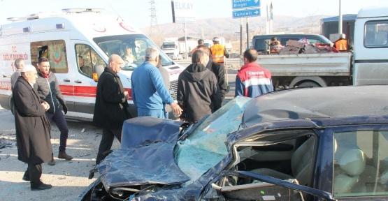 Elazığ'da zincirleme kaza: 4 yaralı