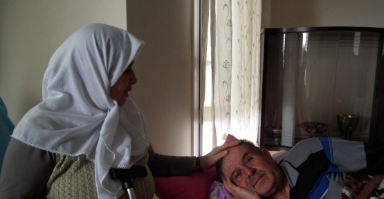 Engelli gazi baba asker oğlunun yolunu gözlüyor
