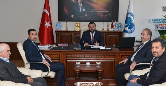 Ermenek Kaymakamı ve Belediye Başkanı'ndan Akgül'e Ziyaret