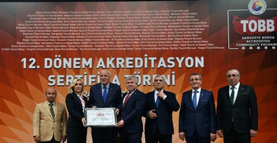 ETSO Akreditasyon Belgesini Teslim Aldı