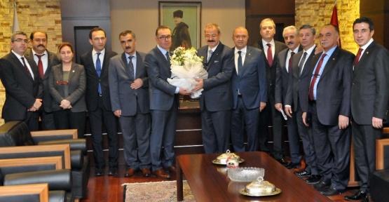 Gaziantep Vergi Dairesi Başkan Vekili Halil Tekin, GSO ziyareti