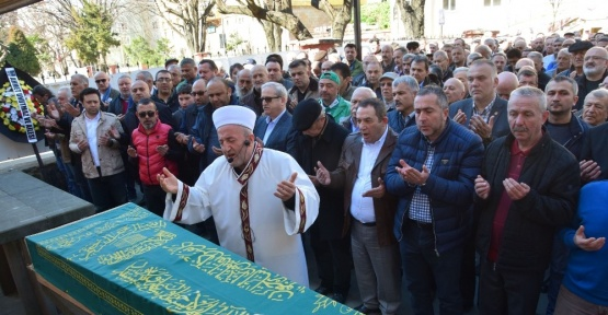 Giresun'da gazeteci Haluk Aktan, son yolculuğuna uğurlandı