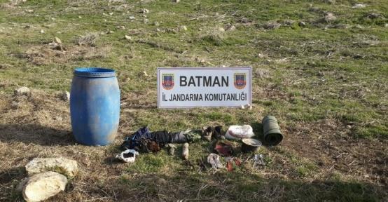 Hasankeyf'te PKK'ya ait sığınak imha edildi
