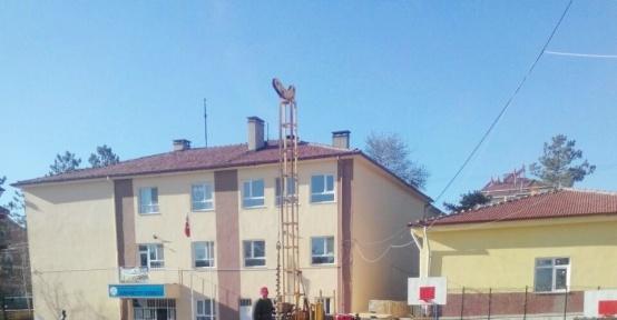 Hisarcık'ta okul binalarında deprem inceleme ve araştırma çalışması