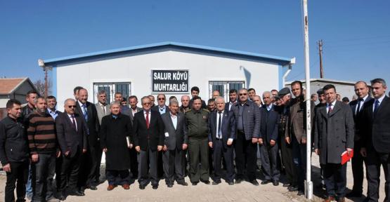 Karaman'da 15 köy muhtarı Salur'daydı