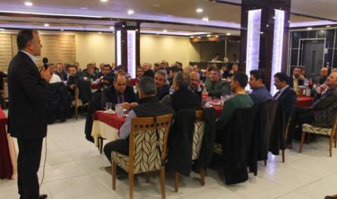Karaman'da İl Müdürü Sultanoğlu onuruna veda yemeği verildi