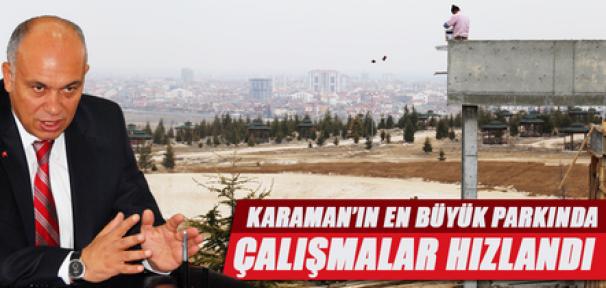 Karaman'da Türk Dünyası Kültür Parkı'nda çalışmalara hız verildi