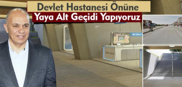 Karaman'da devlet hastanesi önüne alt geçit yapılacak