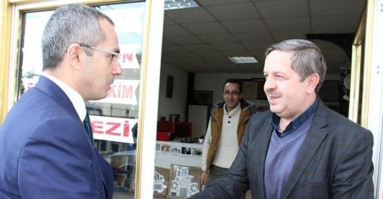 Kaymakam Pişkin'den basın mensuplarına ziyaret
