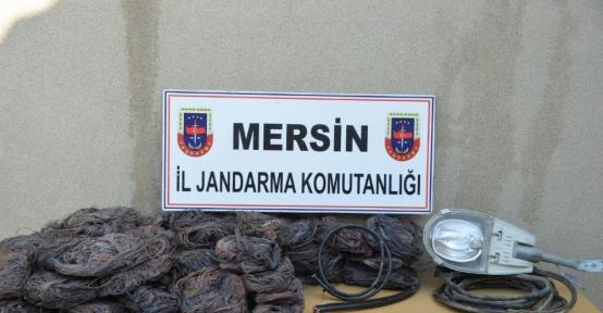 Mersin'de kablo hırsızlığı