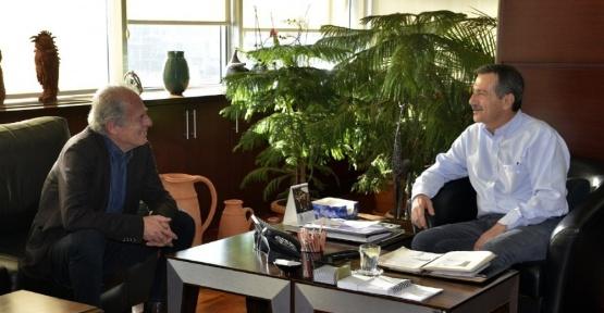 Mustafa Denizli'den Ataç'a ziyaret