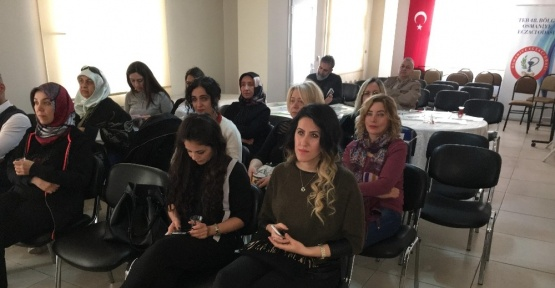Osmaniye Eczacılar Odası'na sağlıklı beslenme semineri
