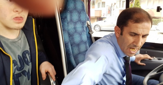 (Özel Haber) Engelli çocuk ve babası özel halk otobüsünden zorla indirildi