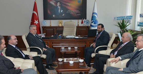 Rektör Prof. Dr. Mehmet Akgül'ü ziyaret ettiler