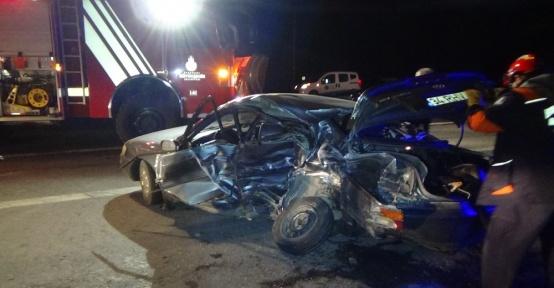 TEM girişinde feci kaza: 2 Ölü