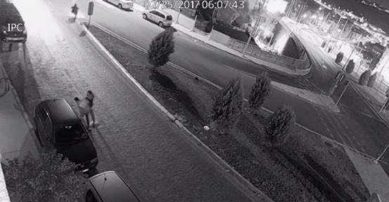 21 ayrı aracın lastiklerini kesen suç makineleri yakalandı