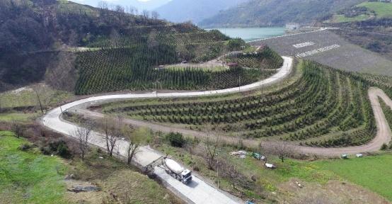 4 bin 500 metrelik yol betonla kaplanıyor