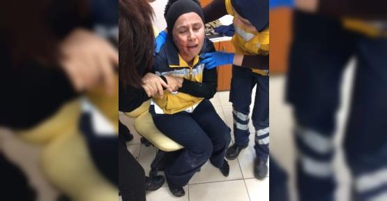 Acil tıp teknisyeni saldırıya uğradı