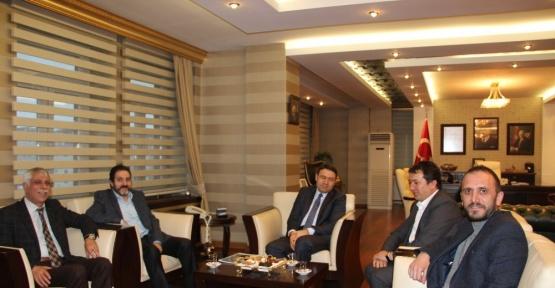 Ağrı'da İHA Bölge müdürleri Turkez ve Akyüz'ün ziyaretleri (Tekrar)