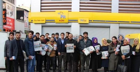 AK Parti Ağrı Gençlik Kolları Yeni Anayasa Maddelerini Kılıçdaroğlu'na Gönderdi