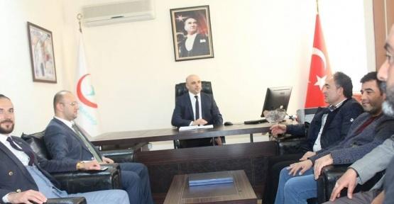 AK Parti Edremit'ten müftü ve başhekime ziyaret