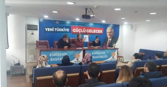 AK Parti Tepebaşı'nda birim başkanları toplantı yaptı