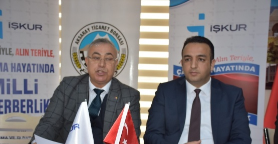 Aksaray Ticaret Borsasında istihdam seferberliği toplantısı