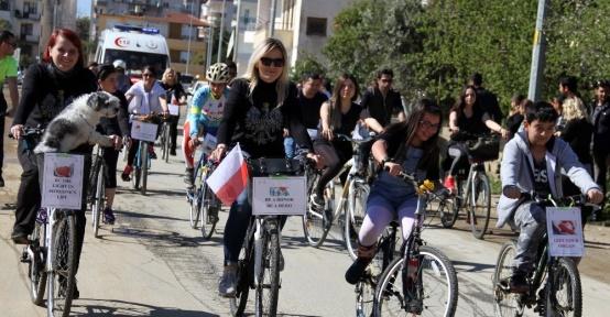 Alanya'nın yabancı misafirleri organ bağışı için pedal çevirdi