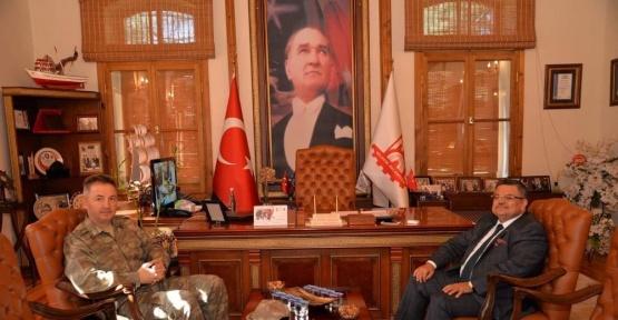 Alay Komutanı Çömez'den Başkan Yağcı'ya ziyaret