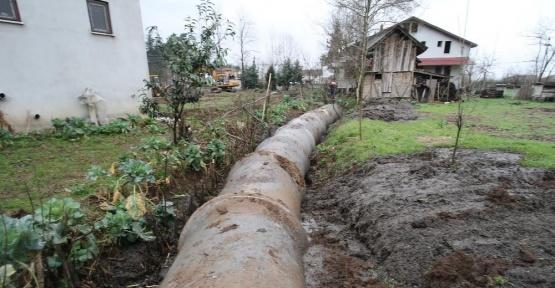 Altındere mahallesinde kanal suları kontrol altında