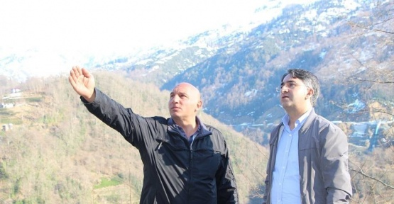 Arhavi Kaymakamı Şeref Aydın'dan köylere ziyaret