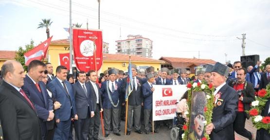 Atatürk'ün Tarsus'a gelişinin yıl dönümü törenlerle kutlandı