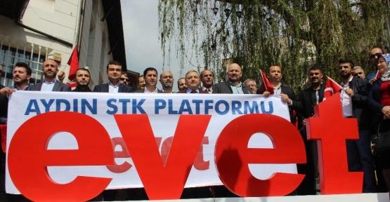 Aydın'da STK'lardan 'Evet' açıklaması