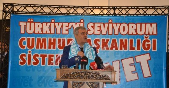 Başbakan Yardımcısı Kaynak, referandum kampanyasına Türkoğlu'ndan başladı