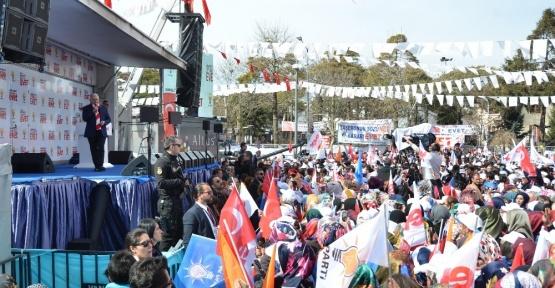 Başbakan Yıldırım, Erzincan mitinginin ardından şehir turu attı